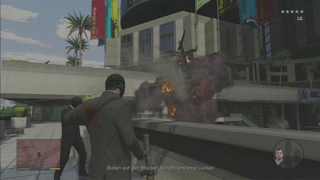 Während der Flucht wird sehr viel explodieren.