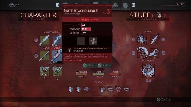 Die Stachelkeule ist einer unserer liebsten Waffen in Vampyr. Sie teilt ordentlich Schaden aus und verringert die Ausdauer des Gegners stark.