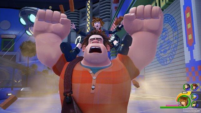 """Dass """"Wrecking Ralph"""" in Kingdom Hearts 3 beschworen werden kann, kam durch einen Leak ans Licht."""