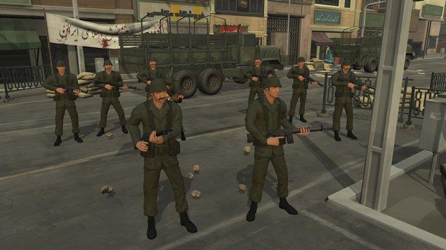 Die Armee hat ein wachsames Auge auf die Proteste im Land.