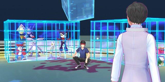 Der skrupellose Digimon-Händler ist euer Gegner im Spiel.