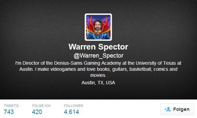 Warren Spector gibt inzwischen sein Wissen an zukünfitge Spiele-Entwickler weiter.