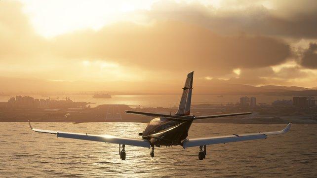 Der Autopilot übernimmt für euch die Kontrolle über das Flugzeug.
