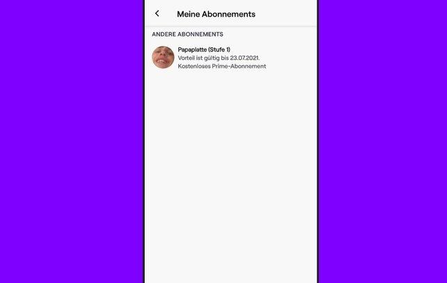 Über die App könnt ihr eure Abonnements zwar sehen, sie aber nicht kündigen oder verlängern.