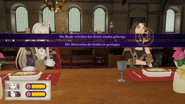 Gemeinsames Essen steigert in Fire Emblem: Three Houses die Motivation und verbessert die Beziehung zwischen den Charakteren.