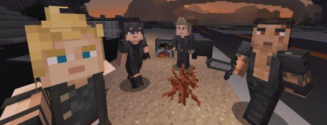Minecraft Trifft Final Fantasy Ungewöhnliches Crossover Als - Minecraft spiele zum runterladen