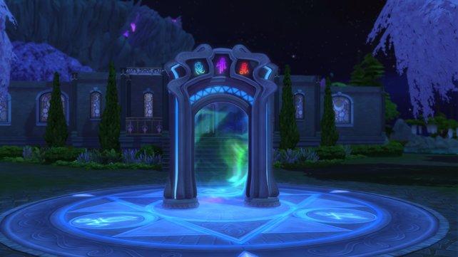 Durchquert das Portal und lernt auf der Zauberakademie die hohen Künste der Magie.
