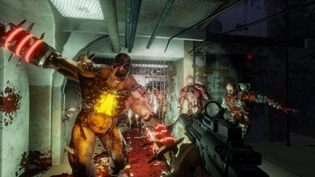 Schaurige Zombiehorden die gezielt auf euch zulaufen - ein normaler Anblick im Spiel.