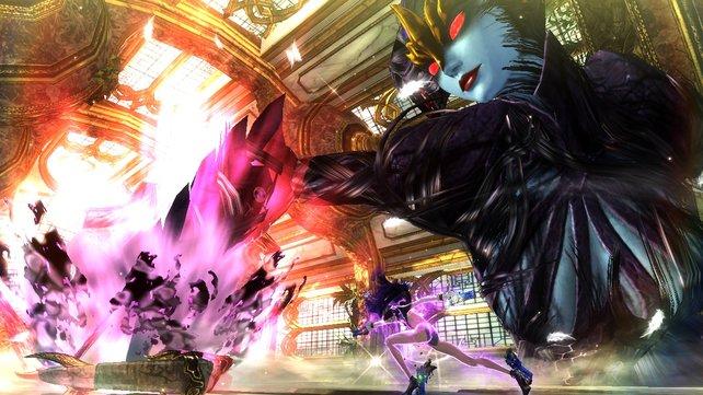 Bayonetta beschwört Madame Butterfly.