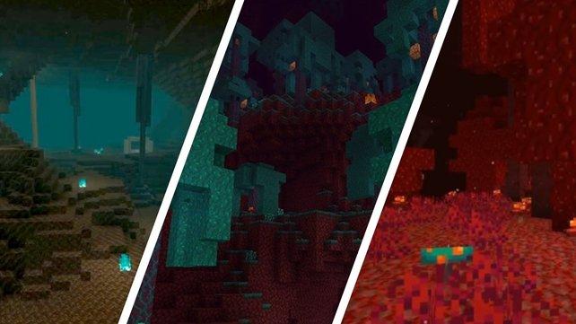 Soulsand Valley, Warped Forest, Crimson Forest: Minecraft erhält drei neue Nether-Biome.
