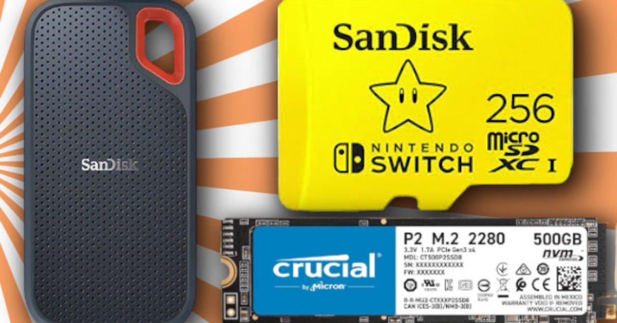 SSDs, HDDs und SD-Karten: Die besten Speicher-Deals zum Black Friday