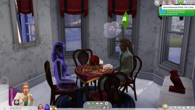 Wenn ihr eurem Partner plötzlich als Geist gegenüber sitzt, wird er für lange Zeit verängstigt sein.