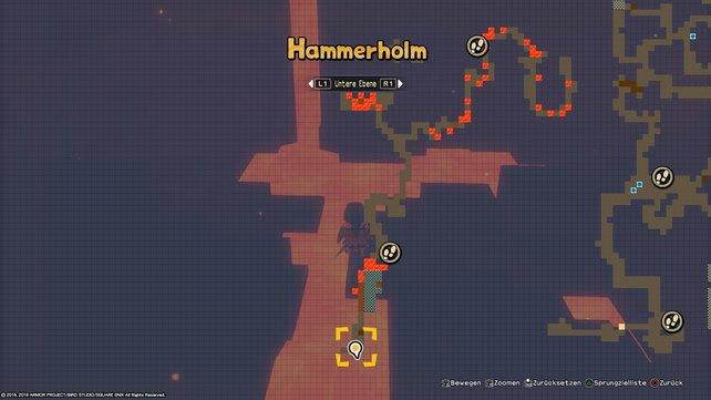 Durchquert ihr den Lavasee in Hammerholm, werdet ihr spätestens hier Diamanten finden.