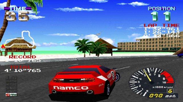 Ridge Racer Revolution: Treppen, Kanten, grobe Pixel ... und dennoch ein grandioses Spielgefühl!