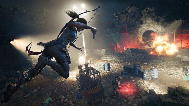 Auch in Shadow of the Tomb Raider beweist sich Lara Croft als Action-Heldin.