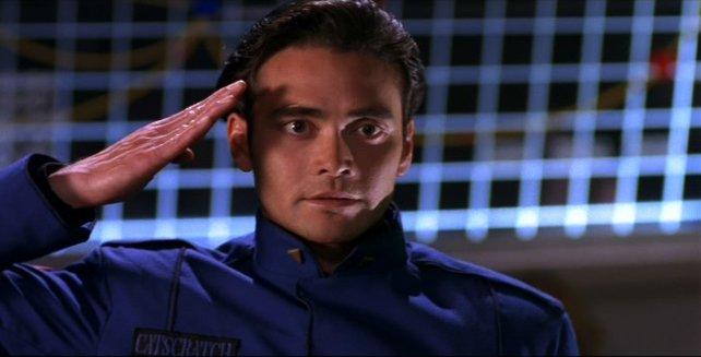 Ein junger Mark Dacascos in Wing Commander 4.