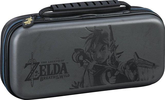 Ein echter Hingucker, aber nur schwer erhältlich ist die Bigben-Tasche mit Zelda-Motiv.