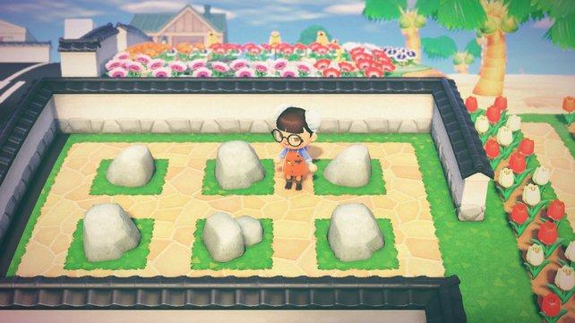 Wenn alles fertig ist, könnt ihr täglich an einer einzigen Stelle alle Steine abbauen.