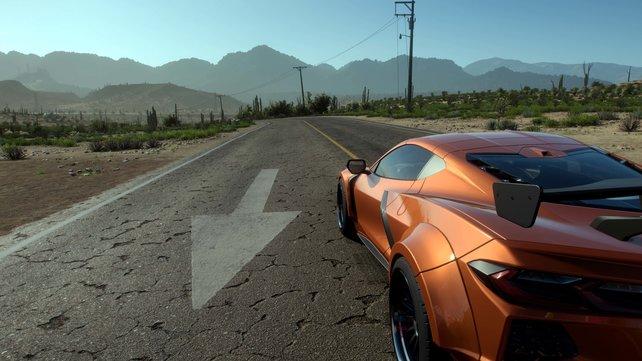 Optisch ist Forza Horizon 5 ein wunderschönes Next-Gen-Rennspiel. Dank Schauplatz Mexiko auch wieder mit für uns gewohntem Rechtsverkehr.