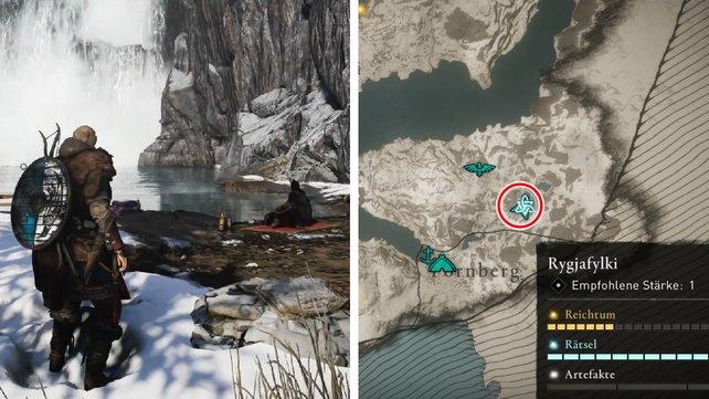 Die Karte zeigt euch den Fundort der Quest.