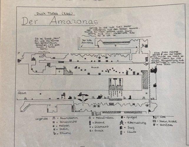"""Ob diese eingesendete Zeichnung zu Duck Tales von unserem Jonas stammt? (""""Video Games"""", 1992)"""