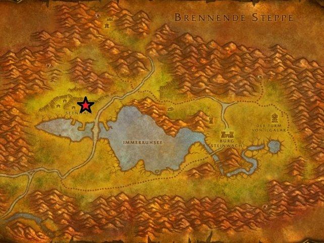 Der Stern markiert den Standort von Magistrat Solomon.