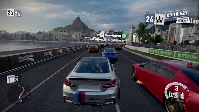 Viele bekannte Strecken sind dabei, auch der abermals sehenswerte Stadtkurs quer durch Rio de Janeiro.