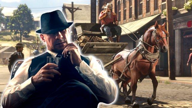Kutschfahrer satteln um: Sie werden in Red Dead Redemption 2 jetzt kurzerhand zu Pferdedieben. Bildquelle: Rockstar Games,  Getty Images/serpeblu.