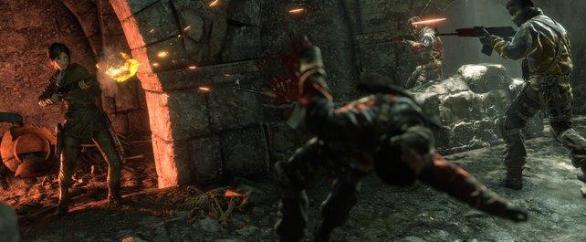 Die junge Lara tötet, ohne mit der Wimper zu zucken. Im Bild: Rise of the Tomb Raider.