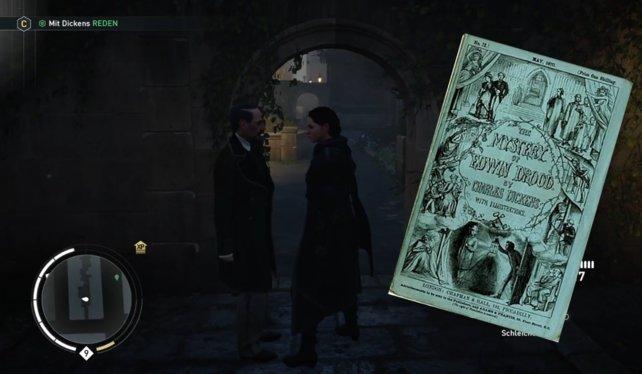 "Bezug zu Charles Dickens Roman: ""The Mystery of Edwin Drood"""