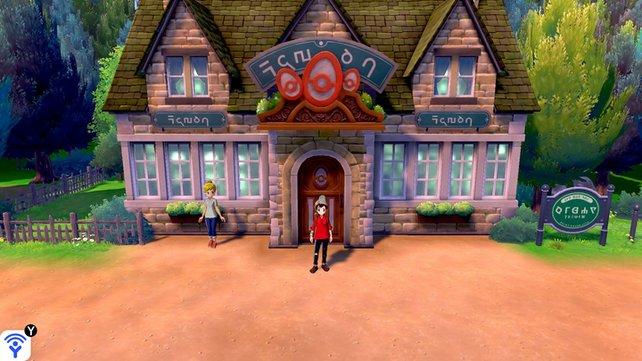 Der Pokémon-Hort: Hier könnt ihr Pokémon züchten und Eier bekommen.