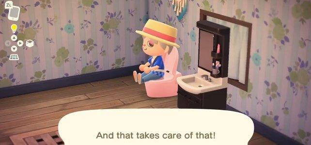 Entspannt auf der Toilette sitzen und das große Geschäft verrichten? Kein Problem mehr in Animal Crossing: New Horizons!