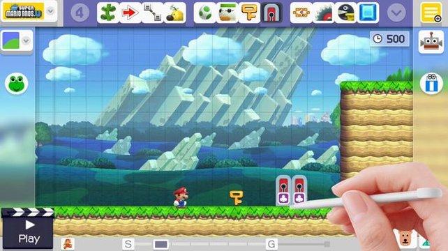 Mit dem Super Mario Maker 3DS könnt ihr fortan auch unterwegs Level bauen.