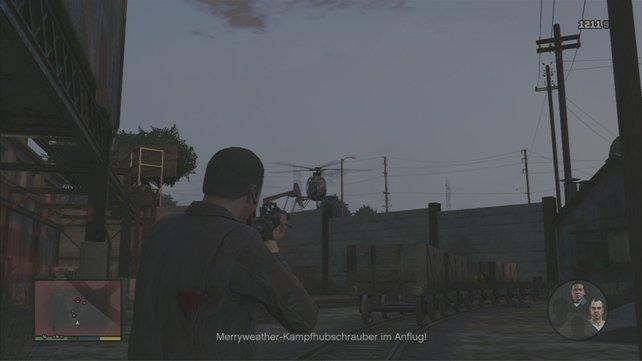 Draußen geht die Schießerei in die nächste Runde.