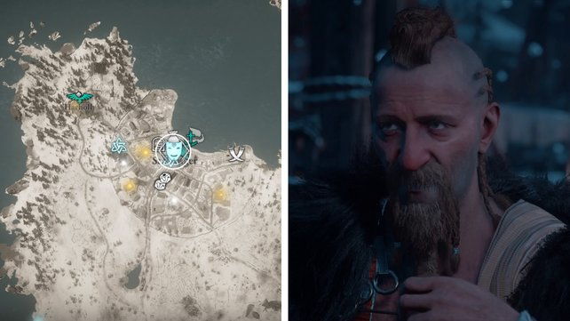 Die Karte euch zeigt den Standort von Manin.