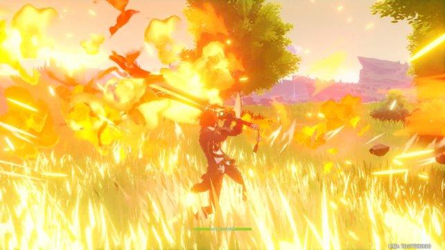 Dilucs Spezialfähigkeit setzt einen Feuervogel frei und erlaubt es ihm anschließend, mit seinen normalen Angriffen Pyro-Schaden anzurichten.