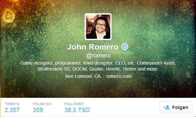 John Romero zählt zu den Pionieren in der Entwicklung von Ego-Shootern.