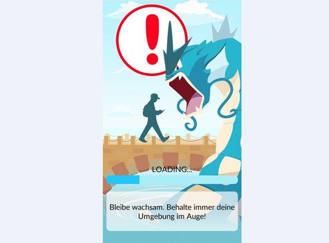 Pokémon GO startet nicht, wenn sich dieser blaue Balken nicht vollständig füllt.