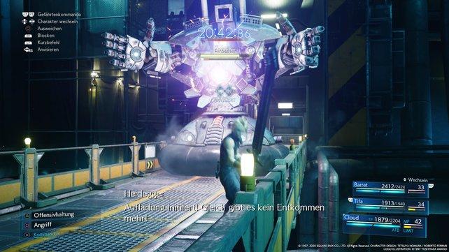 Passt auf den mächtigen Laser-Strahl des Airbusters auf und blockt ihn ab.
