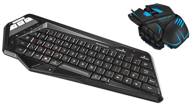 Maus und Tastatur von Mad Catz sind echte Hingucker und sehr gut zum zocken geeignet.
