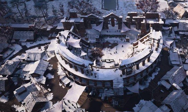 Das ist kein Amphitheater! Diese sind rund und haben auf beiden Seiten Zuschauerränge, wie das Kolosseum!