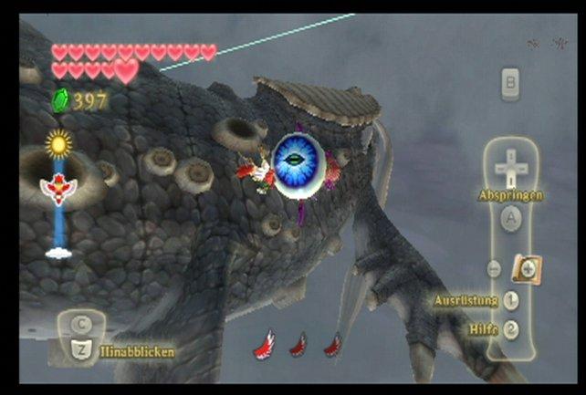 Zerstört alle Augen, die aus dem Körper Narishas heraushängen, dann landet auf dem Rücken.