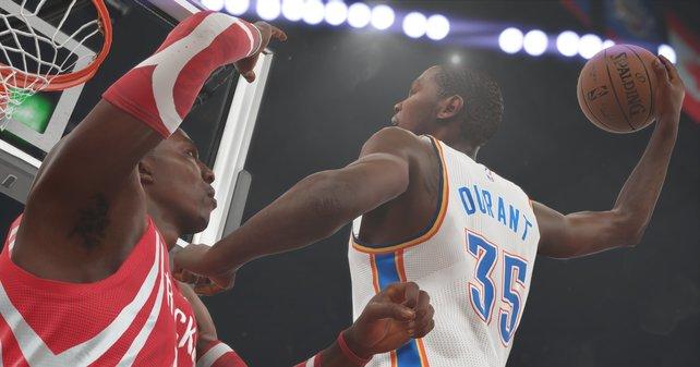 """Treffer und versenkt: In Puncto Realitätsnähe kommt kaum ein Sportspiel an die """"NBA 2K""""-Serie ran."""