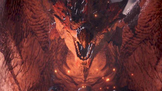 Der Rathalos ist eins der bekanntesten Monster der Serie – kein Artgenosse, mit dem zu spaßen ist.