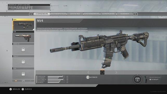 Die NV4: Ein Sturmgewehr im Multiplayer von Call of Duty - Infinite Warfare.