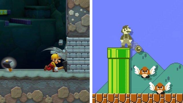 Die Superball-Blume (rechts) kennt ihr vielleicht noch aus Super Mario Land.