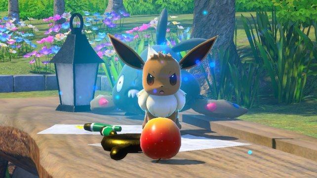 Evoli im Basiscamp von New Pokémon Snap.