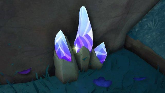 Selbst im Dunkeln schimmert das Kristallmark in bläulich-violettem Schein und ist daher immer leicht erkennbar.