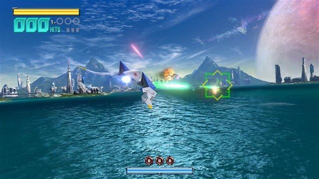 Das Spiel beginnt mit einem Flug übers Meer.