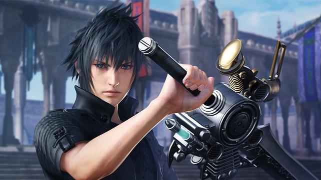Gerade erst die Welt in Final Fantasy XV gerettet, jetzt teilt er in Dissidia Final Fantasy NT aus: Noctis Lucis Caelum.